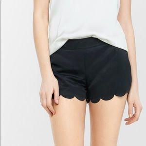 NWT Express Women's Scalloped Hem Soft Shorts